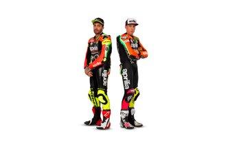 Andrea Iannone, Aprilia Racing Team Gresini; Aleix Espagaro, Aprilia Racing Team Gresini