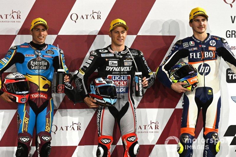 Top 3 Qualifiche, Xavi Vierge, Marc VDS Racing, Marcel Schrotter, Intact GP, Lorenzo Baldassarri, Pons HP40