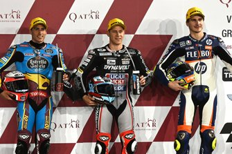 Top 3 after Qualifying, Xavi Vierge, Marc VDS Racing, Marcel Schrotter, Intact GP, Lorenzo Baldassarri, Pons HP40
