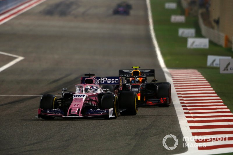 Sergio Perez, Racing Point RP19, Pierre Gasly, Red Bull Racing RB15