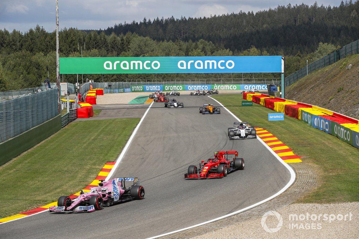Sergio Pérez, Racing Point RP20, Charles Leclerc, Ferrari SF1000, Pierre Gasly, AlphaTauri AT01, Lando Norris, McLaren MCL35