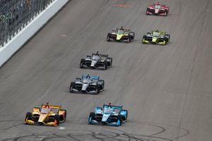 Ryan Hunter-Reay, Andretti Autosport Honda, Conor Daly, Carlin Chevrolet