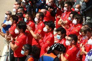 Honda celebration, Alvaro Bautista, Team HRC