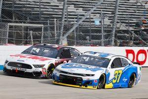 Ryan Preece, JTG Daugherty Racing, Chevrolet Camaro Scott Brand, John H. Nemechek, Front Row Motorsports, Ford Mustang ACME