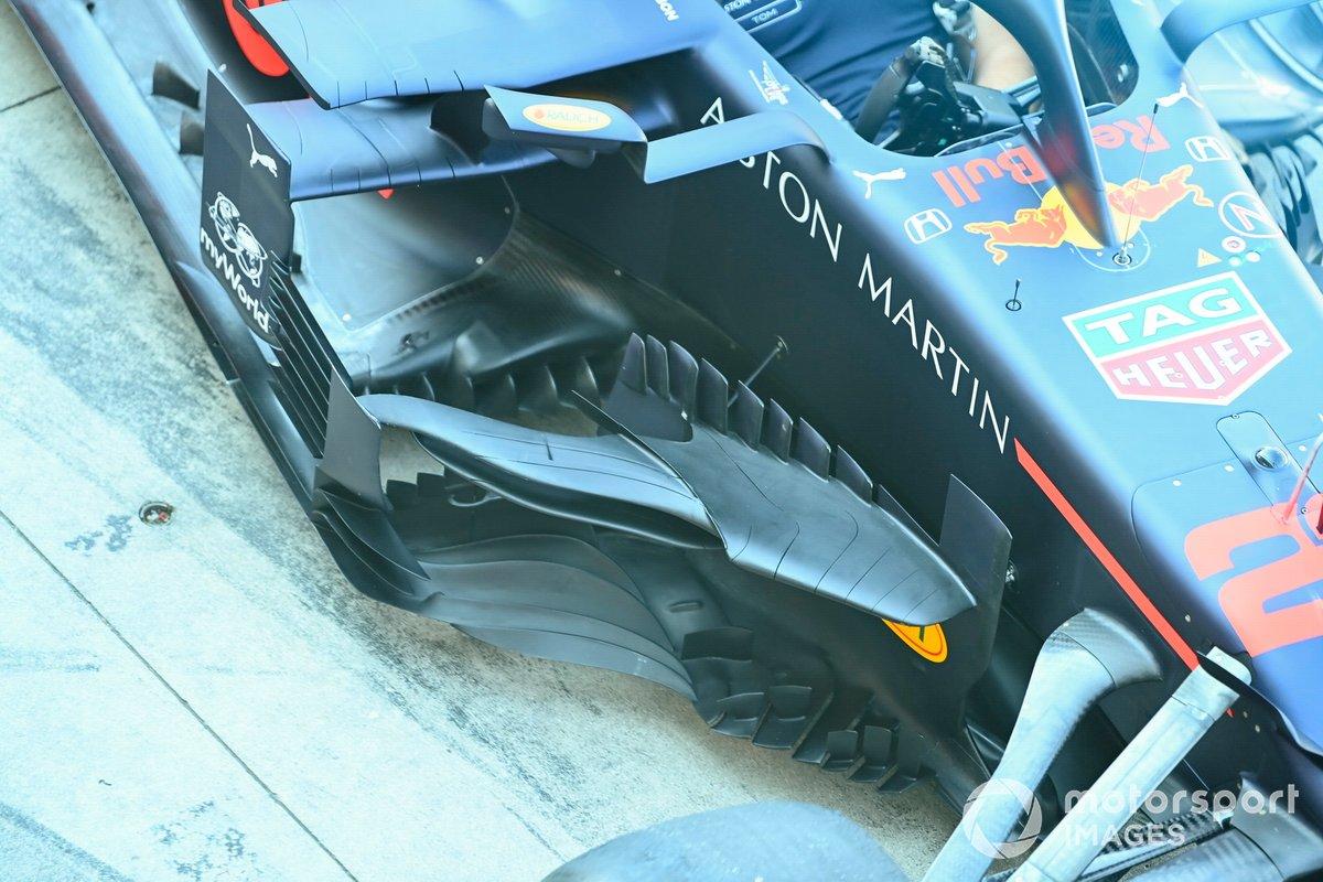 Detalle de los bargeboard del Red Bull Racing RB16