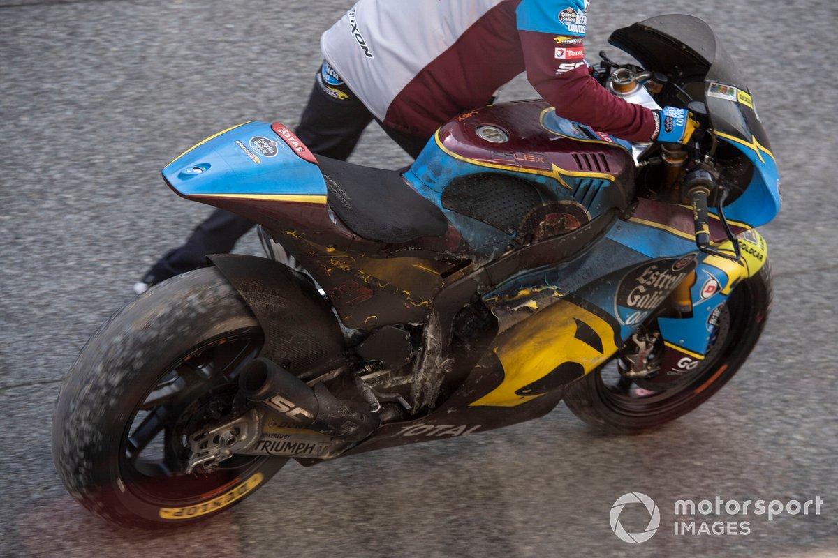 Augusto Fernandez, Marc VDS Racing, burnt out bike