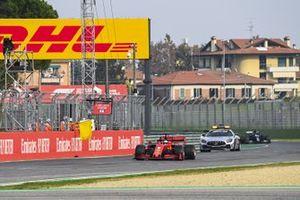 Sebastian Vettel, Ferrari SF1000, the Safety Car, ahead of Lewis Hamilton, Mercedes F1 W11