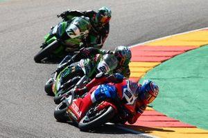 Leon Haslam, Team HRC, Alex Lowes, Kawasaki Racing Team, Maximilian Scheib, ORELAC Racing Verdnatura