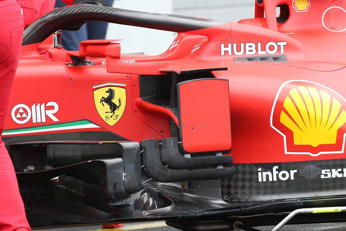 Detalle de los bargeboard del Ferrari SF1000