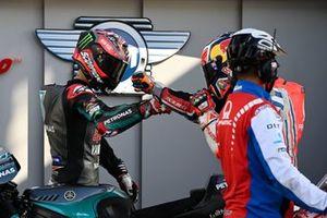 Polesitter Fabio Quartararo, Petronas Yamaha SRT, 2. Jack Miller, Pramac Racing