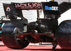 Haas VF-20 rear wing detail