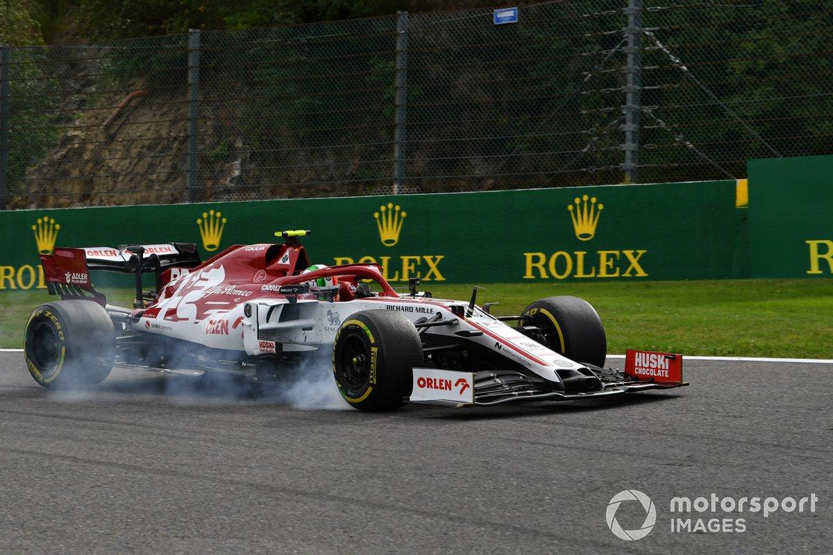 Antonio Giovinazzi, Alfa Romeo Racing C39, locks up