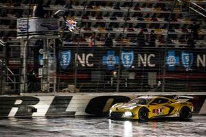 #3 Corvette Racing Corvette C8.R, GTLM: Antonio Garcia, Jordan Taylor, checkered flag, win