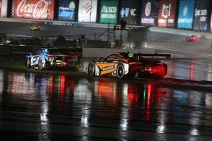 #57 Heinricher Racing w/MSR Curb-Agajanian Acura NSX GT3, GTD: Alvaro Parente, Misha Goikhberg, #76 Compass Racing McLaren 720S GT3: Jeff Kingsley, Paul Holton