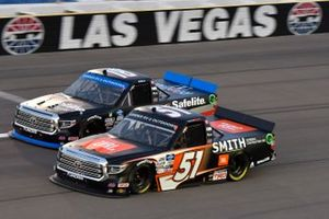 Chandler Smith, Kyle Busch Motorsports, Toyota Tundra JBL/Smith General Contracting Christian Eckes, Kyle Busch Motorsports, Toyota Tundra Safelite AutoGlass