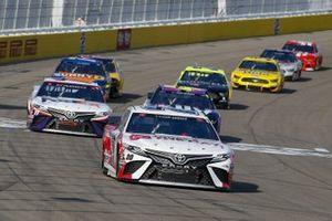#20: Erik Jones, Joe Gibbs Racing, Toyota Camry Today's The Day, #11: Denny Hamlin, Joe Gibbs Racing, Toyota Camry FedEx Office