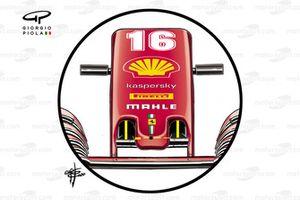 Ferrari SF1000 nose inlet detail