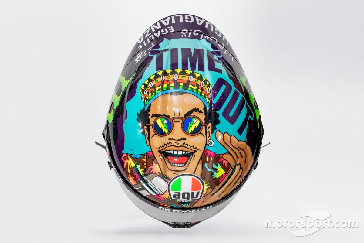 Franco Morbidelli, Petronas Yamaha SRT new helmet