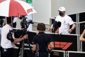 Valtteri Bottas, Mercedes-AMG F1, is interviewed after practice