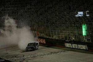 Sam Mayer, GMS Racing, Chevrolet Silverado Armour Guard celebrates his victory