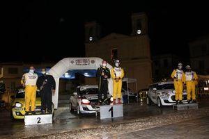 Il podio Suzuki Rally Cup: Schileo-Finzi, Calcagno-Parodi, Mantoet-Beltramello