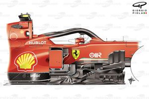 Ferrari SF1000 old bargeboard detail
