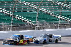 Brett Moffitt, GMS Racing, Chevrolet Silverado Concrete Supply Johnny Sauter, ThorSport Racing, Ford F-150 Vivitar