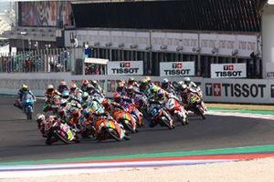 Start zum Moto3-Rennen 2020 in Misano