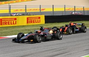 Nikita Mazepin, Hitech Grand Prix devance Luca Ghiotto, Hitech Grand Prix