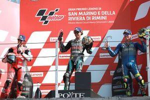 Podium: race winner Franco Morbidelli, Petronas Yamaha SRT, second place Francesco Bagnaia, Pramac Racing, third place , third place Joan Mir, Team Suzuki MotoGP