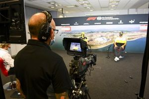 Cameraman filming Daniel Ricciardo, Renault F1 in the press conference