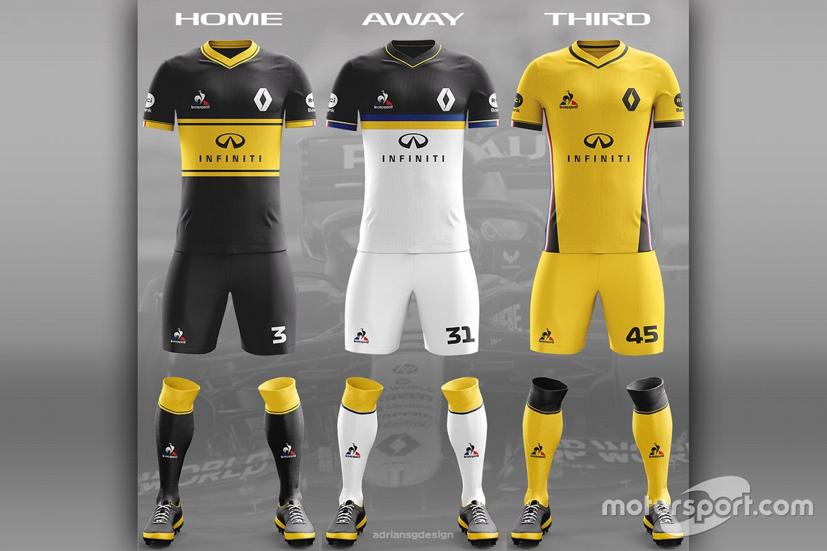 Renault F1 Team football kit