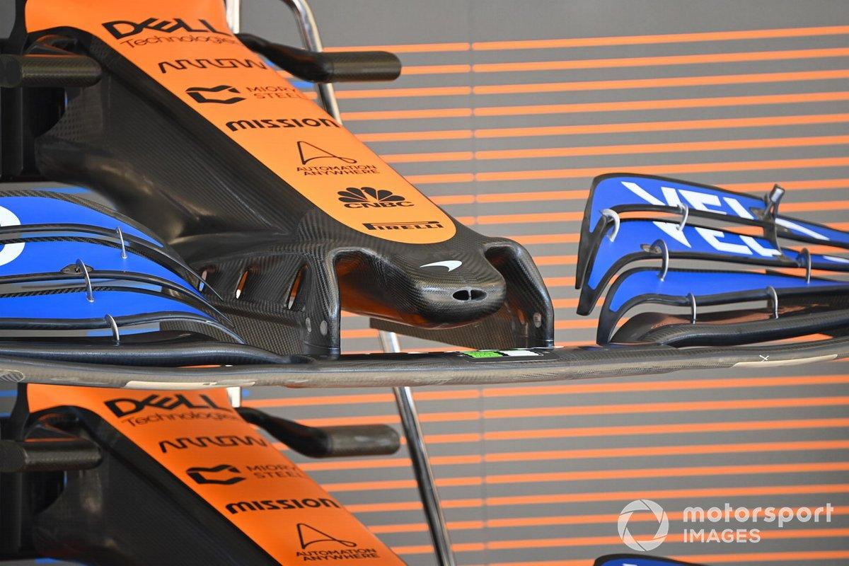 Detalle técnico del McLaren