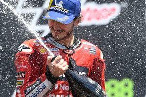 Podio: segundo lugar Francesco Bagnaia, Ducati Team