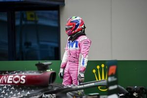 Sergio Perez, Racing Point, 2nd position, in Parc Ferme