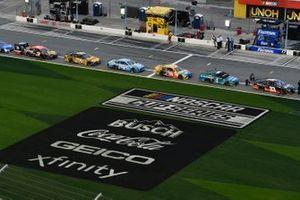 Logos: NASCAR Cup Series, Busch Beer, Coca-Cola, Geico, Xfinity