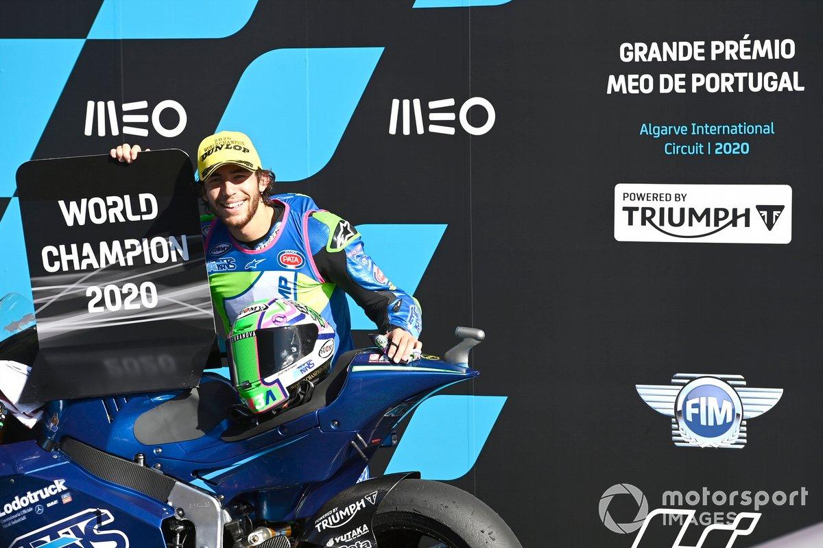 El campeón de Moto2 Enea Bastianini, Italtrans Racing Team