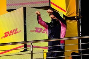 Andy Stevenson, Directeur Sportif, Racing Point, sur le podium