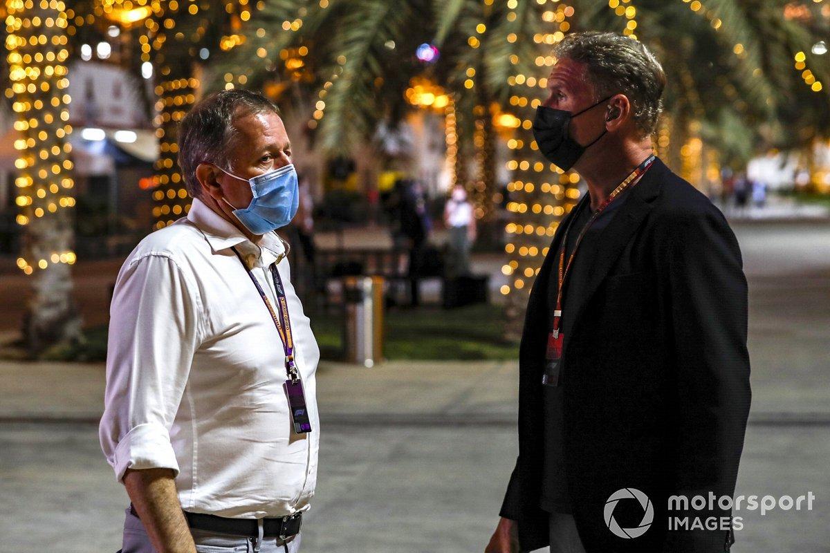 Martin Brundle, Sky TV, con il presentatore David Coulthard