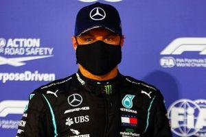 Polesitter Valtteri Bottas, Mercedes F1 W11