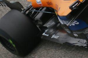 Detalle de la parte trasera del MCL35 de McLaren