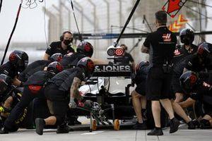 Romain Grosjean, Haas VF-20, fait un arrêt