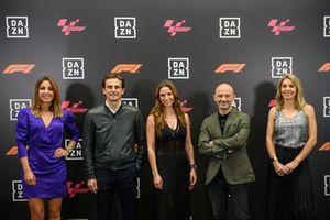 Noemí de Miguel, Pedro de la Rosa, Lucía Villalón, Antonio Lobato y Nira Juanco, de DAZN F1