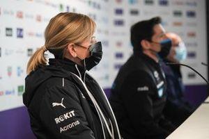 Susie Wolff, Team Principal, Venturi, in the press conference