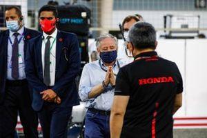 Jean Todt, President, FIA, with Masashi Yamamoto, General Manager, Honda Motorsport