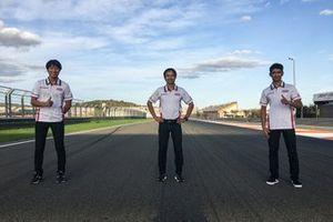 Yuki Kunii, Hiroshi Aoyama, Andi Farid Izdihar, Honda Team Asia