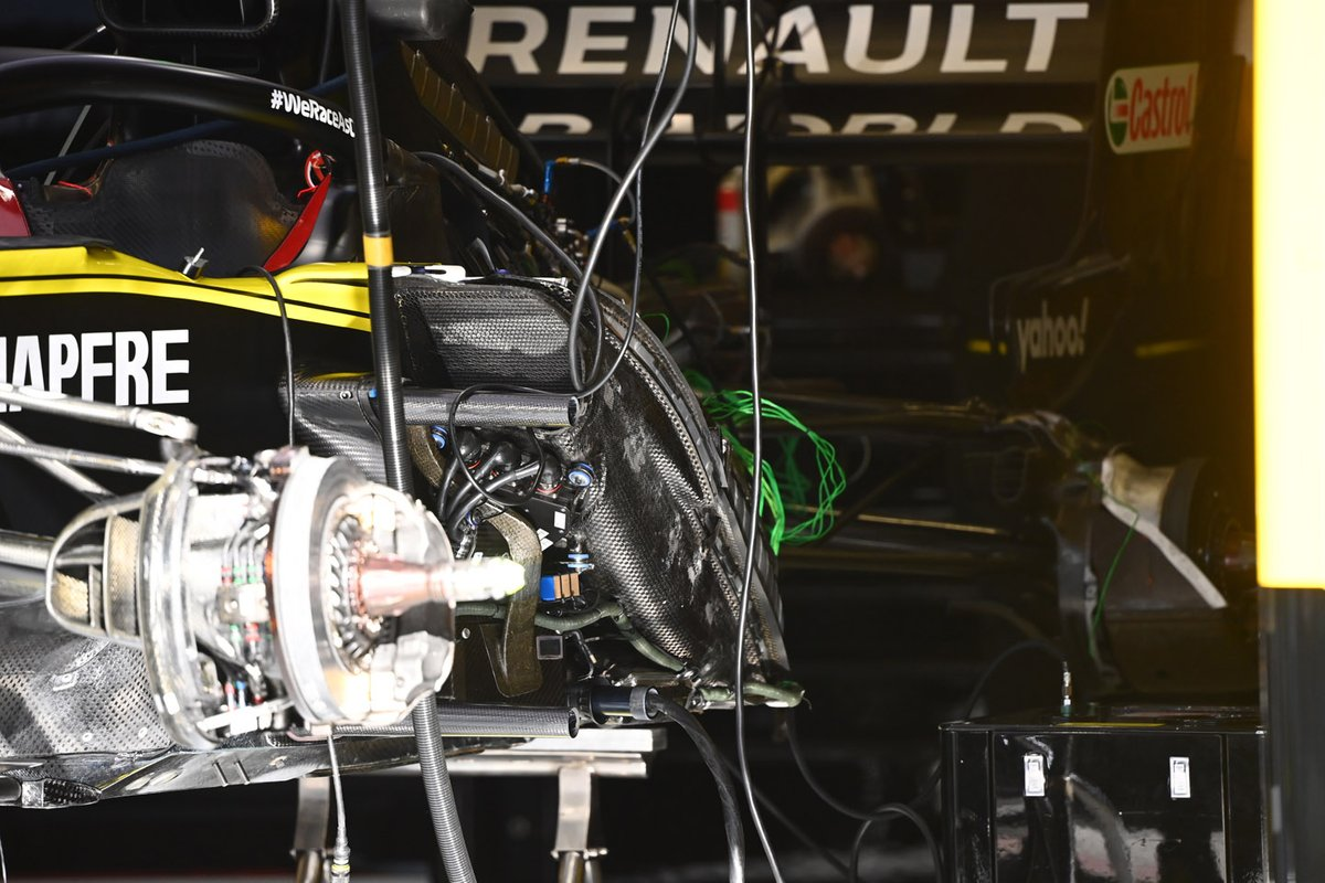 Detalle lateral del Renault F1 Team R.S.20
