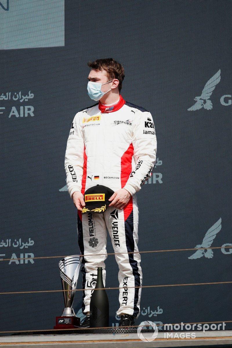 David Beckmann, Charouz Racing System, tercero, en el podio