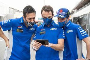 Frankie Carchedi, Sylvain Guintoli, Joan Mir, Team Suzuki MotoGP