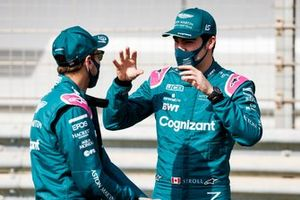 Lance Stroll, Aston Martin and Sebastian Vettel, Aston Martin